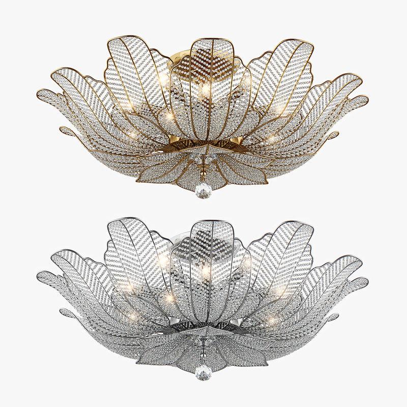 chandelier riccio osgona 3d model