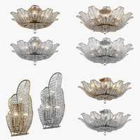 chandelier riccio osgona 3d model