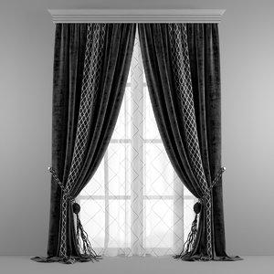3d model curtain optical