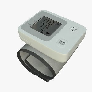 3d wrist blood pressure monitor model
