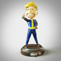 3d old fallout boy figurine