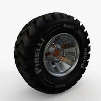 3d model truck jeep tyre