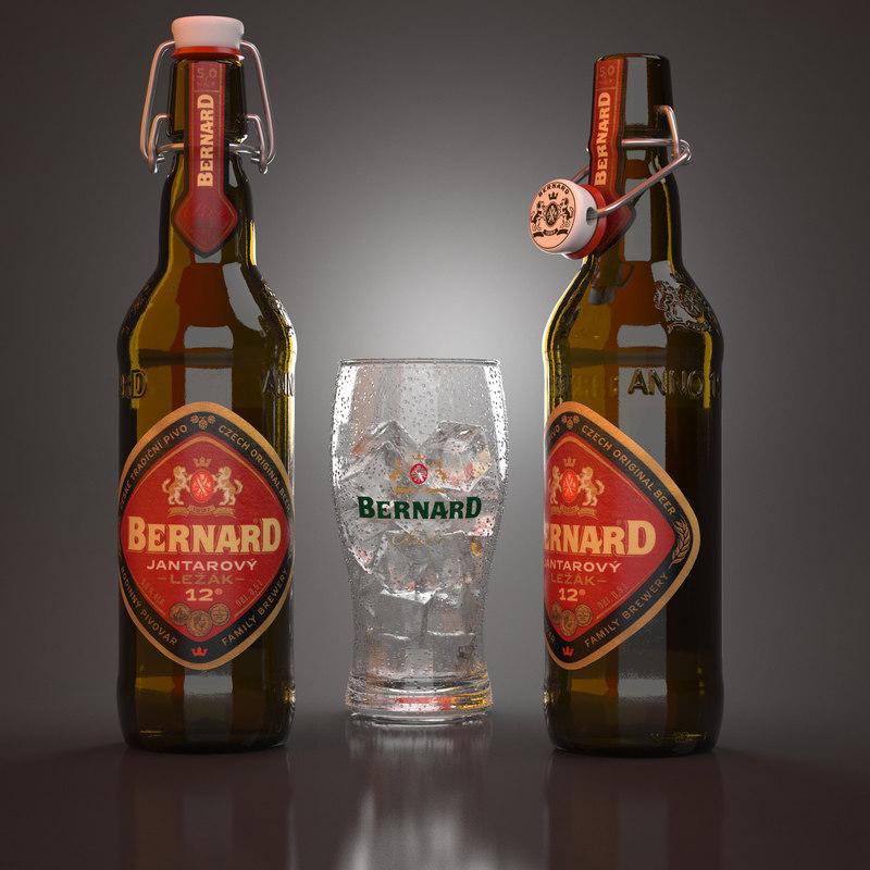 bernard jantarovy beer bottles max