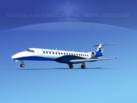 3d model embraer erj 145 jets