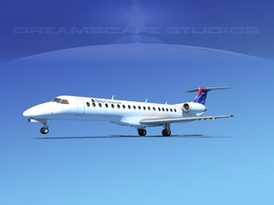 embraer erj 145 3d 3ds