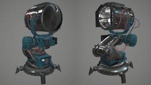 3d model floodlight light