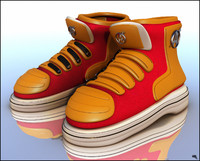 3d sneakers boots cartoon model