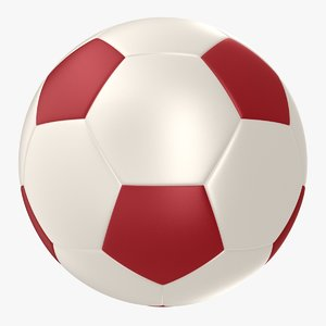 soccer ball red 3ds