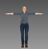 3d andrea walking dead season model