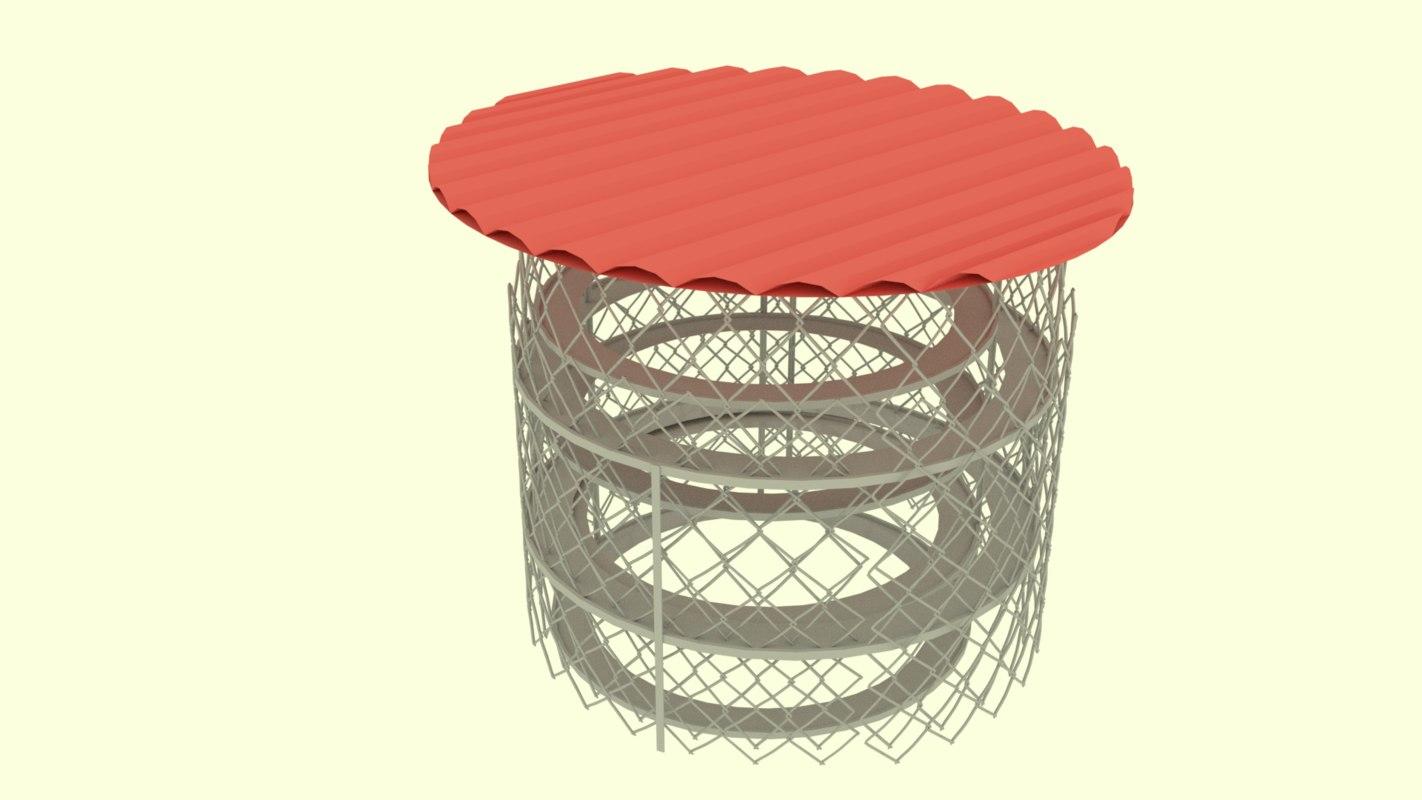 3d circular fence