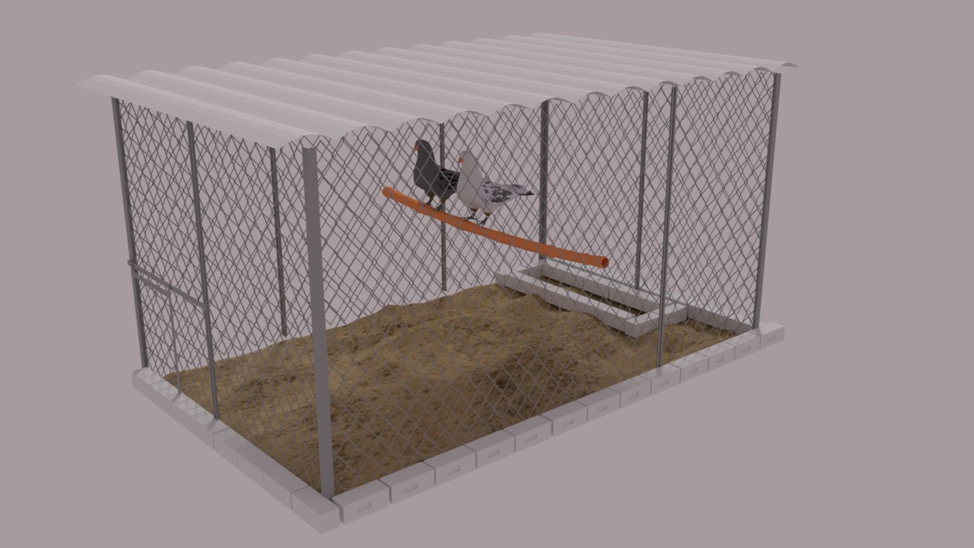 3d model pigeon fence