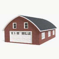 3d barn modeled