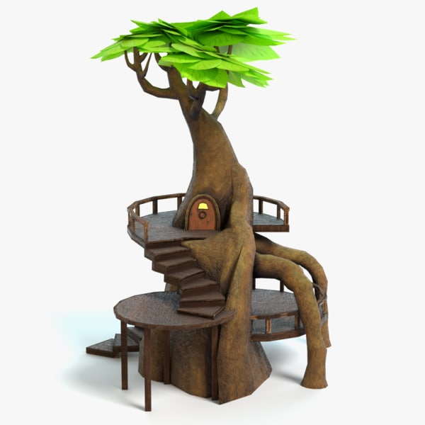 fantasy tree house 3d 3ds