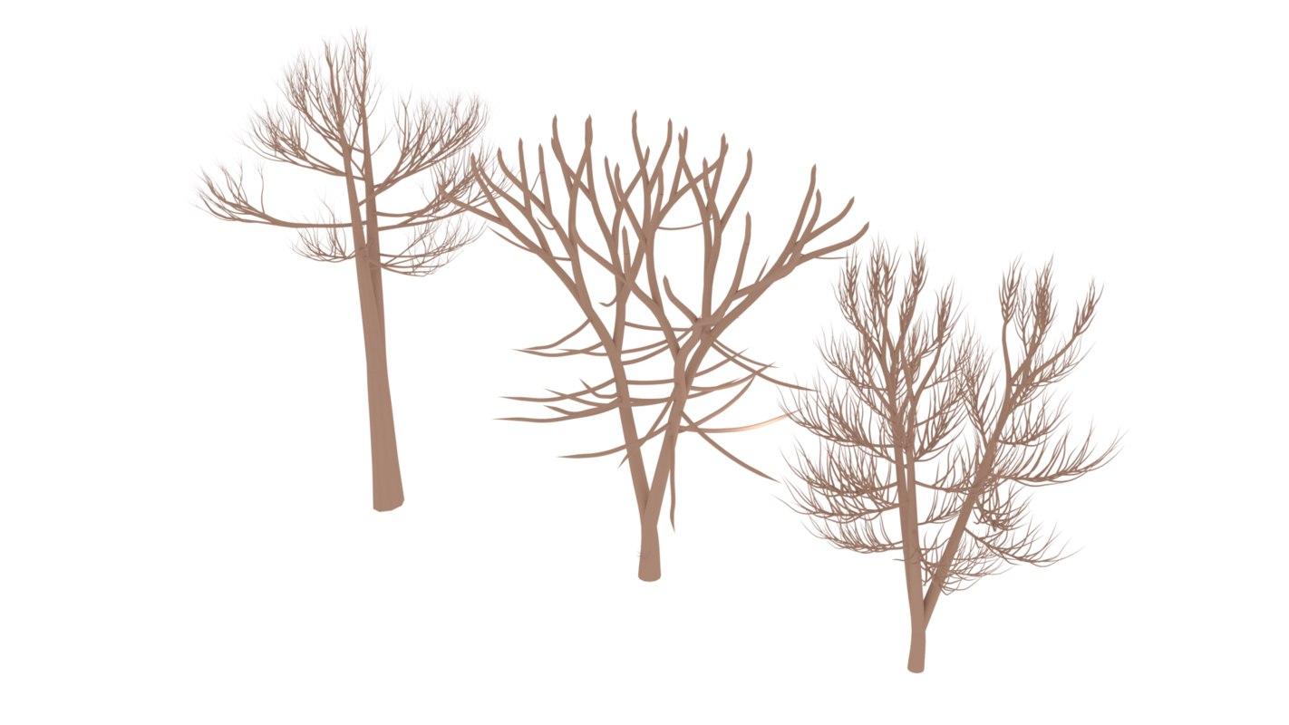 autumn tree set 3ds