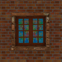 3d model window glass stained