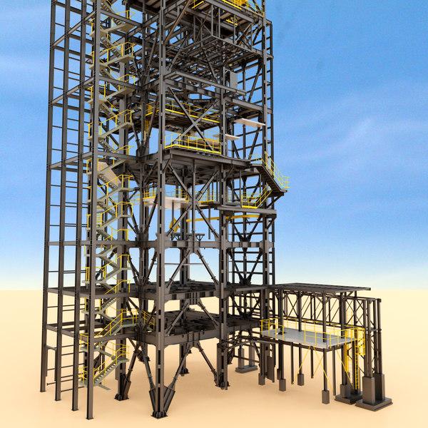 3d obj modular steel construction building