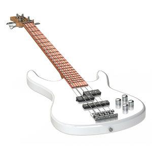 3d model electric bass guitar