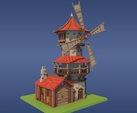windmill games 3d model