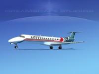 embraer erj 145 jets 3d obj