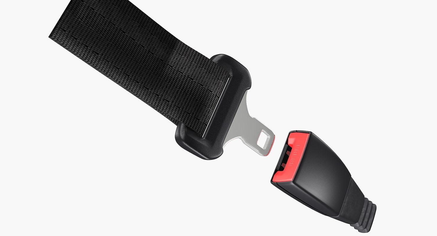3d seat belt buckle model
