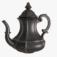 antique teapot 3d model