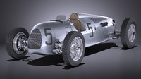 auto union car 3d obj