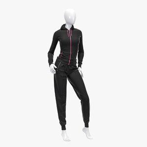 3d model female sport suit
