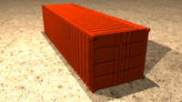 cargo container 3d model