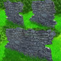 ruins stone obj free