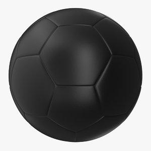 3d model soccer ball black