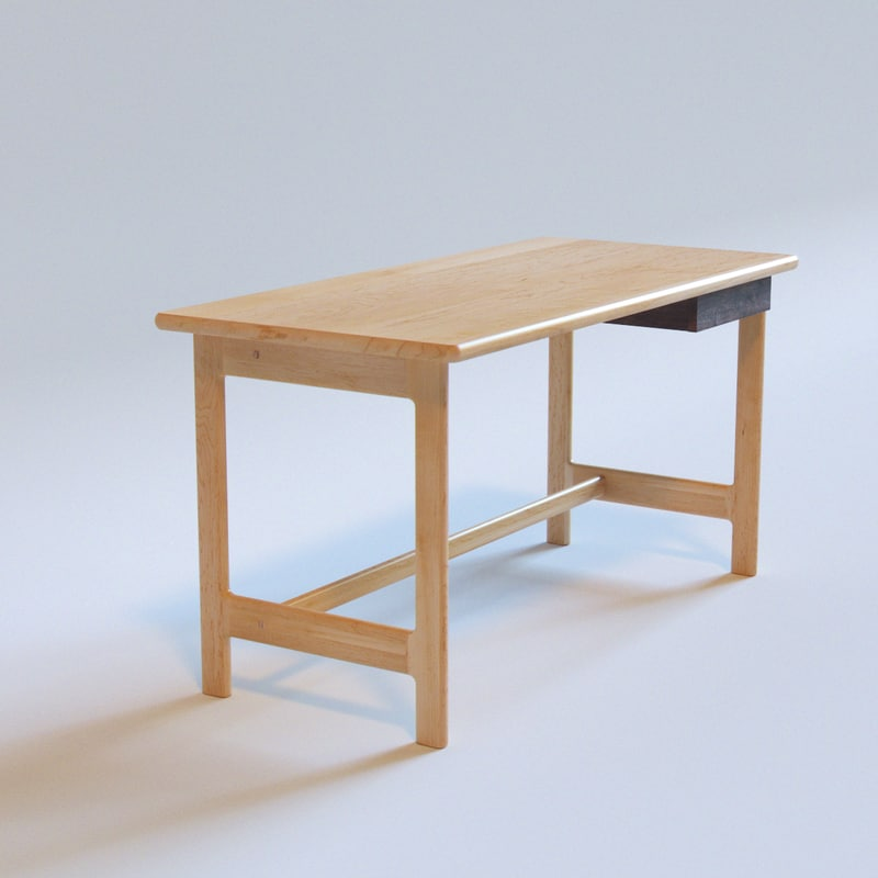 desk maple ishitani 3d model