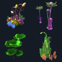 Cartoon Underwater plant