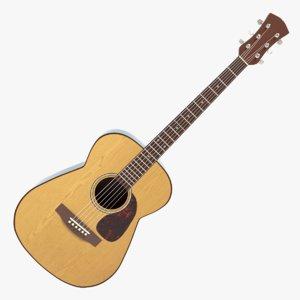 acoustic guitar 3d model
