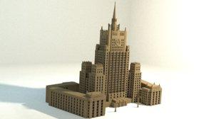 3d model russian mfa building russia