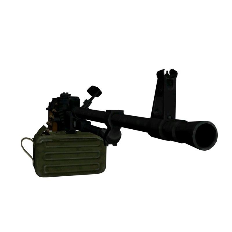 machine gun - pkm obj