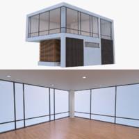 modern house interior 3d blend