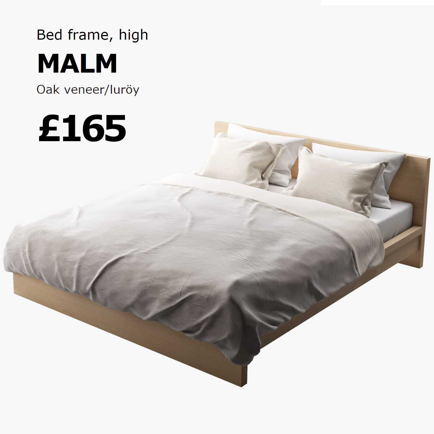 malm high bed frame review