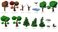 Low Poly Trees and Environment Set