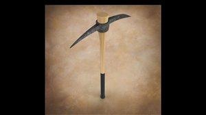 pickaxe tool 3d 3ds