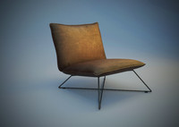 3d model lounge chair earl leather