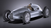 Auto Union Type D 1938 race car