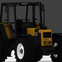 3d model tractor renault 155-54