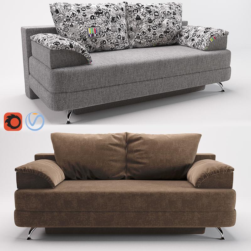 3d model sofa alia