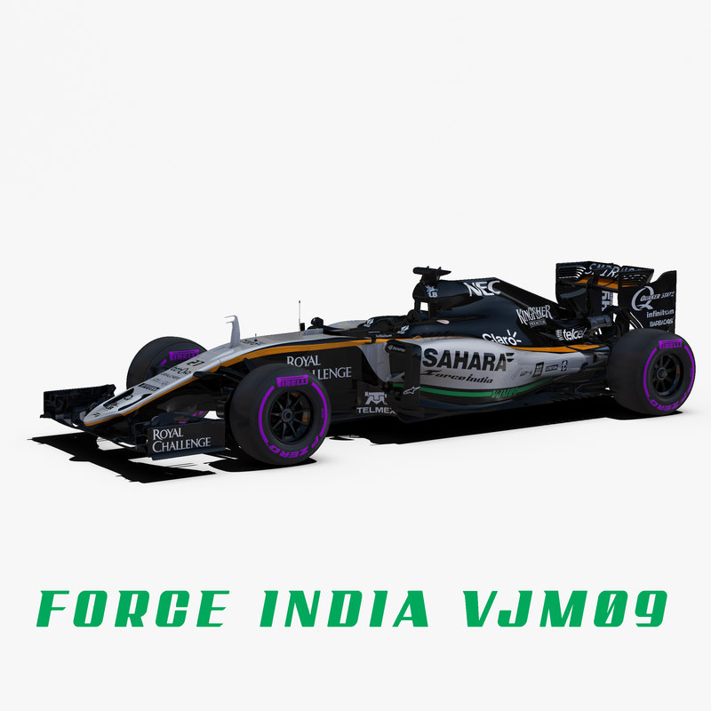 3d force india vjm09 wheels model