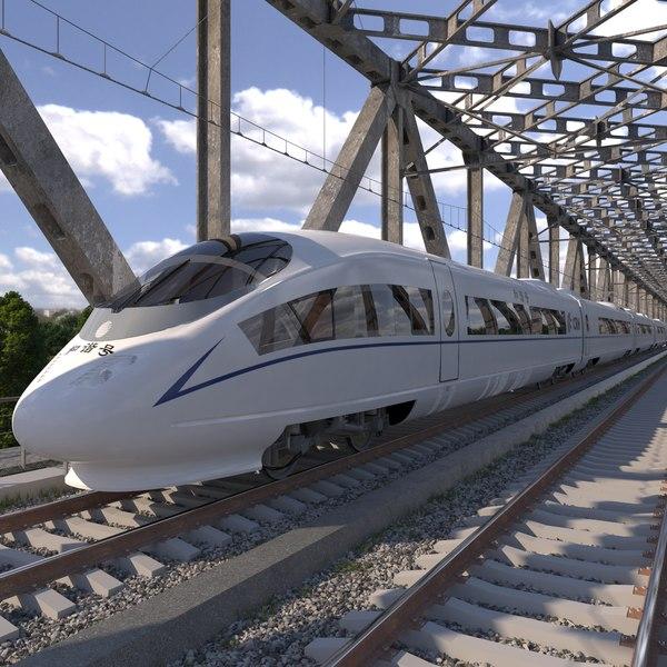 3d model of high-speed electric train siemens