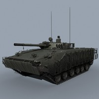 russian bmp-3 cage armour 3d max