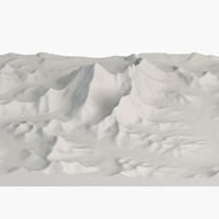 3d landscape mount everest model