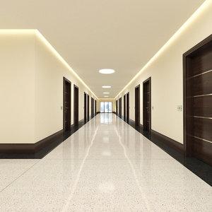 hotel hallway obj