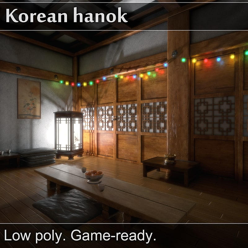 3d x korean hanok