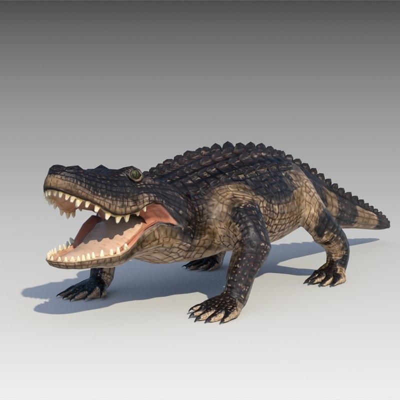 3d model alligator animations